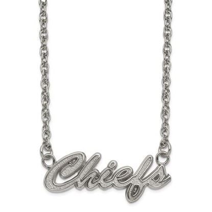Picture of Kansas City Chiefs Stainless Steel Script Necklace
