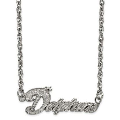 Picture of Miami Dolphins Stainless Steel Script Necklace