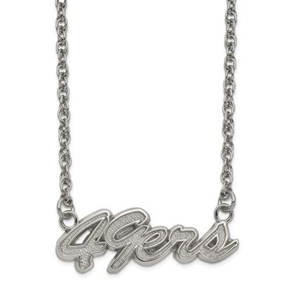 Picture of San Francisco 49ers Stainless Steel Script Necklace
