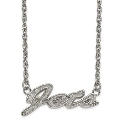 Picture of New York Jets Stainless Steel Script Necklace