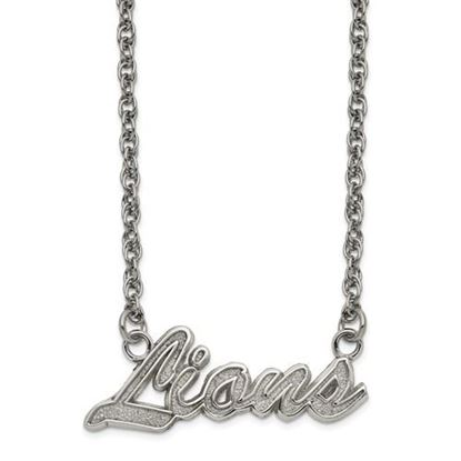 Picture of Detroit Lions Stainless Steel Script Necklace
