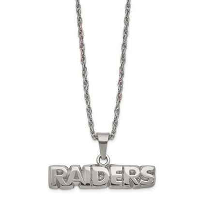 Picture of Oakland Raiders Stainless Steel Pendant Necklace