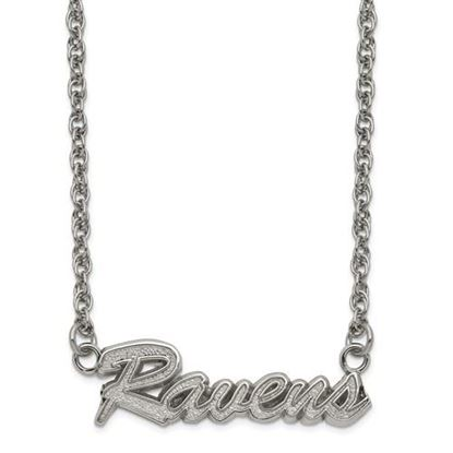 Picture of Baltimore Ravens Stainless Steel Script Necklace