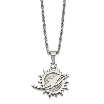 Picture of Miami Dolphins Stainless Steel Pendant Necklace