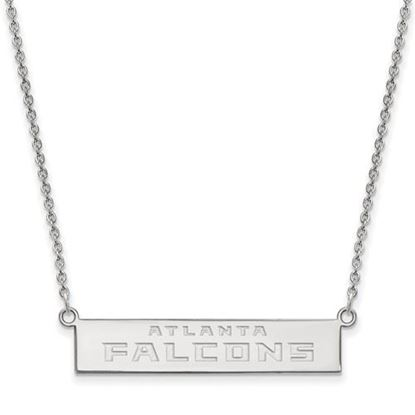 Picture of Atlanta Falcons Sterling Silver Small Bar Necklace