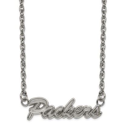 Picture of Green Bay Packers Stainless Steel Script Necklace