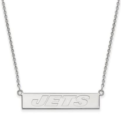 Picture of New York Jets Sterling Silver Small Bar Necklace
