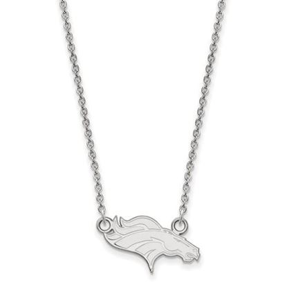 Picture of Denver Broncos Sterling Silver Small Pendant Necklace