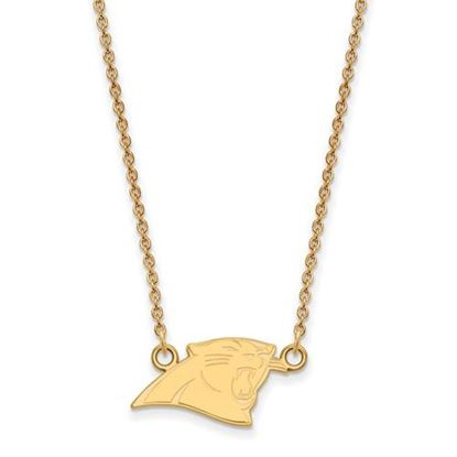 Picture of Carolina Panthers Sterling Silver Gold Plated Small Pendant Necklace
