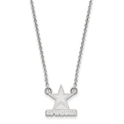 Picture of Dallas Cowboys Sterling Silver Small Pendant Necklace