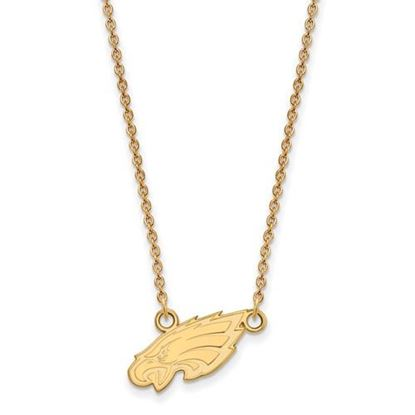 Picture of Philadelphia Eagles Sterling Silver Gold Plated Small Pendant Necklace