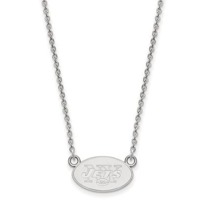 Picture of New York Jets Sterling Silver Small Pendant Necklace