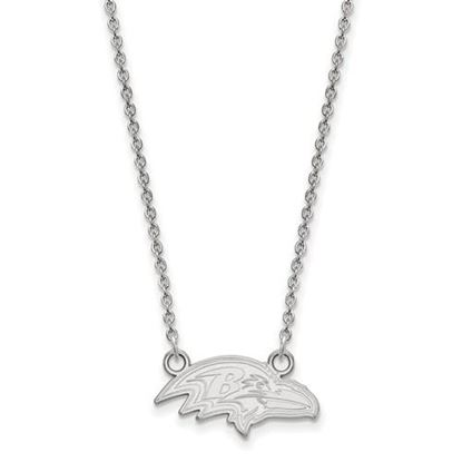Picture of Baltimore Ravens Sterling Silver Small Pendant Necklace
