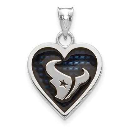 Picture of Houston Texans Sterling Silver Enameled Heart Pendant
