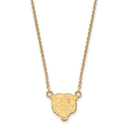 Picture of Chicago Bears Sterling Silver Gold Plated Small Pendant Necklace