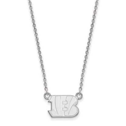 Picture of Cincinnati Bengals Sterling Silver Small Pendant Necklace