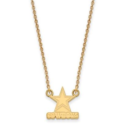 Picture of Dallas Cowboys Sterling Silver Gold Plated Small Pendant Necklace