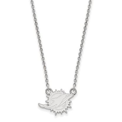 Picture of Miami Dolphins Sterling Silver Small Pendant Necklace