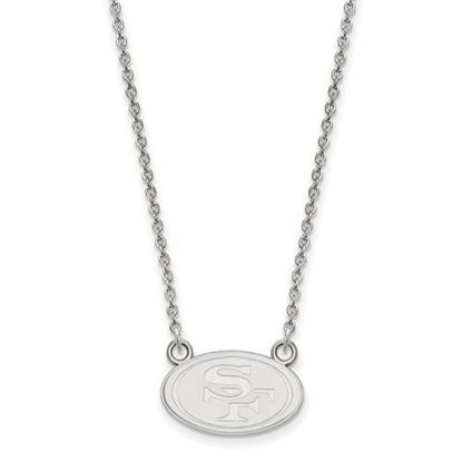 Picture of San Francisco 49ers Sterling Silver Small Pendant Necklace