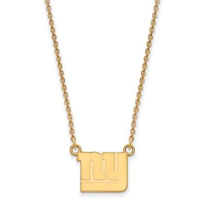 Picture of New York Giants Sterling Silver Gold Plated Small Pendant Necklace