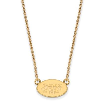 Picture of New York Jets Sterling Silver Gold Plated Small Pendant Necklace