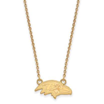 Picture of Baltimore Ravens Sterling Silver Gold Plated Small Pendant Necklace