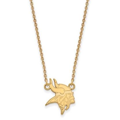Picture of Minnesota Vikings Sterling Silver Gold Plated Small Pendant Necklace
