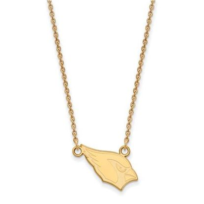 Picture of Arizona Cardinals Sterling Silver Gold Plated Small Pendant Necklace