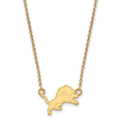 Picture of Detroit Lions Sterling Silver Gold Plated Small Pendant Necklace