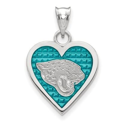 Picture of Jacksonville Jaguars Sterling Silver Enameled Heart Pendant