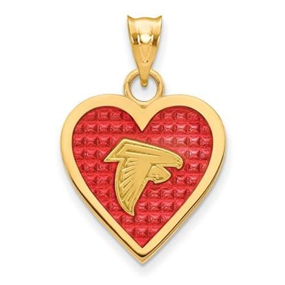Picture of Baltimore Ravens Sterling Silver Gold Plated Enameled Heart Pendant
