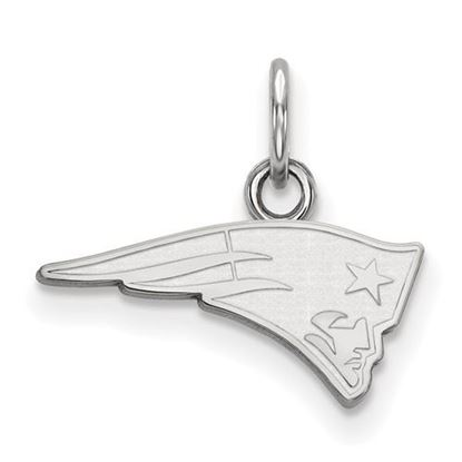 Picture of New England Patriots 10k White Gold Extra Small Pendant