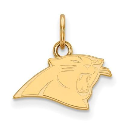 Picture of Carolina Panthers Sterling Silver Gold Plated Extra Small Pendant