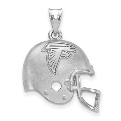 Picture of Atlanta Falcons Sterling Silver Football Helmet with Logo Pendant