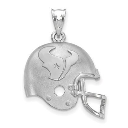 Picture of Houston Texans Sterling Silver Football Helmet Logo Pendant