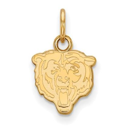 Picture of Chicago Bears Sterling Silver Gold Plated Extra Small Pendant