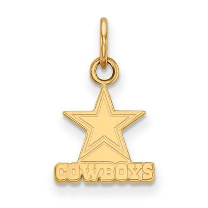 Picture of Dallas Cowboys Sterling Silver Gold Plated Extra Small Pendant