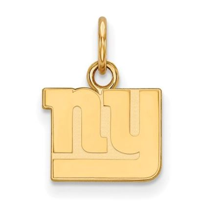 Picture of New York Giants Sterling Silver Gold Plated Extra Small Pendant