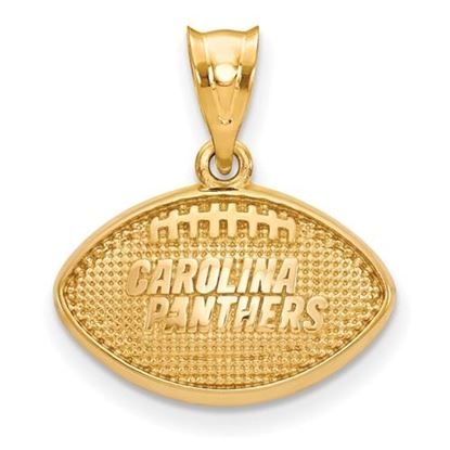 Picture of Carolina Panthers Sterling Silver Gold Plated Football Pendant