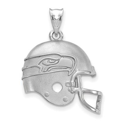 Picture of Seattle Seahawks Sterling Silver Football Helmet Logo Pendant