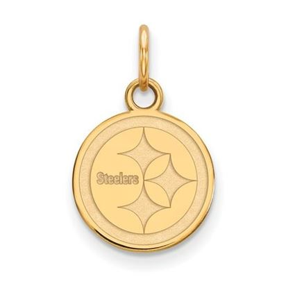 Picture of Pittsburgh Steelers Sterling Silver Gold Plated Extra Small Pendant