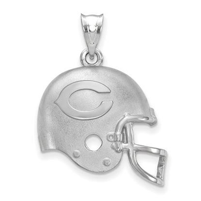 Picture of Chicago Bears Sterling Silver Football Helmet with Logo Pendant