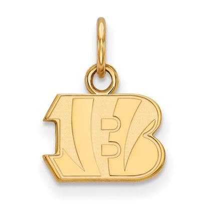 Picture of Cincinnati Bengals Sterling Silver Gold Plated Extra Small Pendant