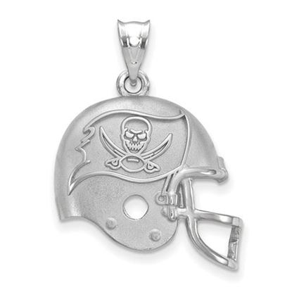 Picture of Tampa Bay Buccaneers Sterling Silver Football Helmet Logo Pendant