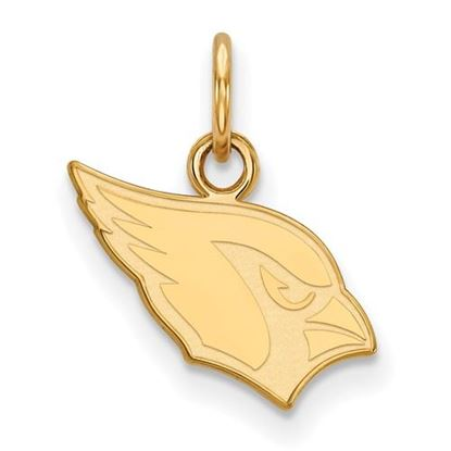 Picture of Arizona Cardinals Sterling Silver Gold Plated Extra Small Pendant