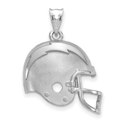 Picture of Los Angeles Chargers Sterling Silver Football Helmet Logo Pendant