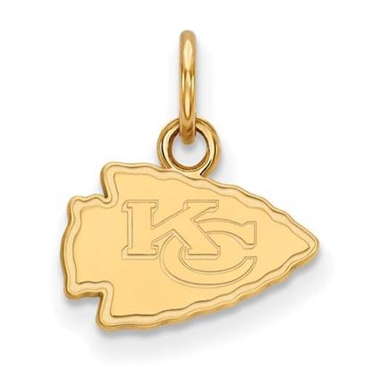 Picture of Kansas City Chiefs Sterling Silver Gold Plated Extra Small Pendant