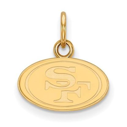 Picture of San Francisco 49ers Sterling Silver Gold Plated  Extra Small Pendant