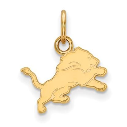 Picture of Detroit Lions Sterling Silver Gold Plated Extra Small Pendant
