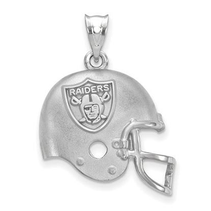 Picture of Oakland Raiders Sterling Silver Football Helmet with Logo Pendant